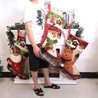 Xmas Santa Claus Elk Candy Gift Holder Stocking Socks Bag Party Decor Gift  Tren