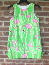 Girls 10 Corkey's Kids Lime Green White Pink Flamingo A Line Summer Dress