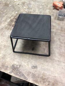 Food Display Riser Heavy Metal  6x6x4 Black New