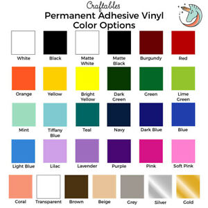 """Craftables Adhesive Vinyl Roll 12"""" x 10' Permanent Craft Outdoor for Cricut"""