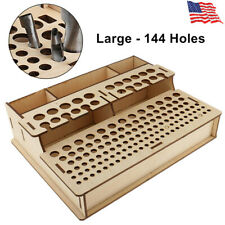 144 Holes Diy Wood Leather Craft Tools Holder Stand Stamp Stand Holder Organizer
