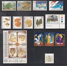 CYPRUS 1999 COMPLETE YEAR SETS :  9 SETS, 17 STAMPS + 2 M/S PERFECT MNH