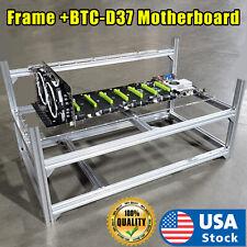 USA 8 GPU Frame + Motherboard  Miner Mining Equipment Computer BTC Rig Ethereum