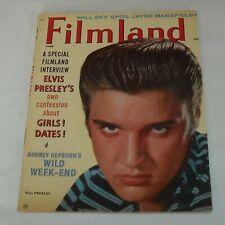 FILMLAND MAGAZINE 1957 ELVIS PRESLEY INTERVIEW AUDREY HEPBURN JAYNE MANSFIELD
