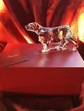 MIB FLAWLESS Exquisite BACCARAT Crystal BRAQUE POINTER RETRIEVER LABRADOR DOG