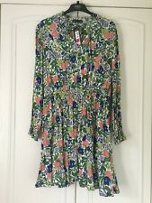BNWT M&S Multicoloured floral long midi sleeved short dress size 18