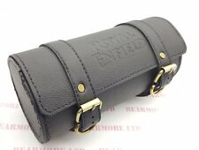 ROYAL ENFIELD BULLET CLASSIC BLACK WATER PROOF LEATHER ENGRAVED TOOL ROLL BAG