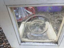"Vintage old Antique Bullseye Glass Panels 10.5"" x 11"" 4 Available sold Singular"