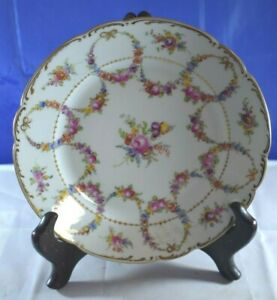 DRESDEN Germany Gorgeous MULTI-COLORED Flowers In Nice PATTERN Lamb MARKING
