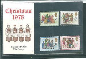 GB - PRESENTATION PACKS - 1978 - CHRISTMAS