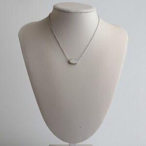 Kendra Scott Elisa Silver Necklace Pendant In Iridescent Drusy