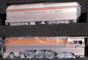 BLI Brass Hybrid Paragon3 #4553 C&O Class L-1 Hudson Engine #493 Orange Boiler