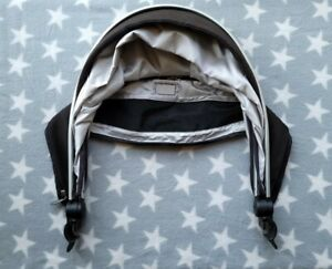Silver Cross Surf Hood Canopy Black for Seat Unit & Carrycot SPF 50