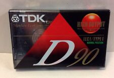 New TDX D90 Type II  90-Minute Cassette Tape