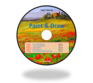 Learn how to Paint & Draw, Painting Drawing, Video lessons on DVD-Rom + D/L link