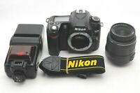 【MINT】Nikon D80 W/NIKKOR DX AF-S 18-55mm 1:3.5-5.6G II ED Lens/SB-24 From JAPAN