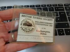 More details for 1990s era  white star   related  titanic society convention button badge 1992