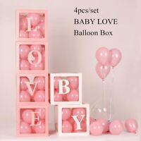 4X Transparent Balloon Box Wedding Baby Shower Boy Girl 1st Birthday Party Decor