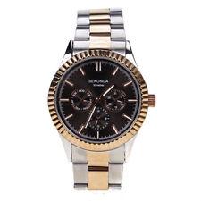 Sekonda Mens Two Tone Rose Plate & Steel Multi Dial Watch 1096