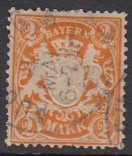 Baviera (Alemania):1903 2m Naranja Perf 11 1/2 sg101a Usado