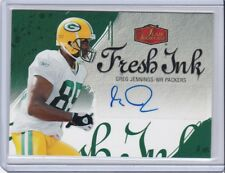 2006 FLEER FLAIR SHOWCASE AUTO GREG JENNINGS CARD #AU-GJ