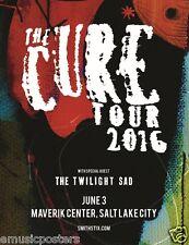 The Cure/Twilight Sad 2016 Salt Lake City Concert Tour Poster- Gothic Rock Music