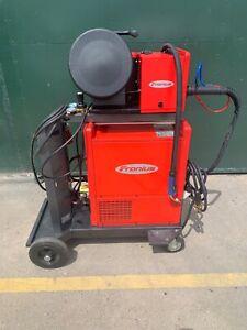 Fronius TransPuls Synergic 5000 mig welder VR4000 wire feed module welding 3ph
