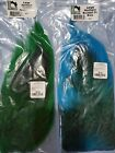 Large Northern Bucktails Florescent Blue And Forest Green Fly Tying Salt Bass