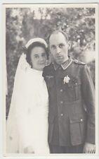 (F1045+) Orig. Foto Wehrmacht-Soldat, Hochzeit, 1940er