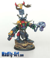 Ork Warboss with Attack Squig MASTERS6 painted metal MadFly-Art