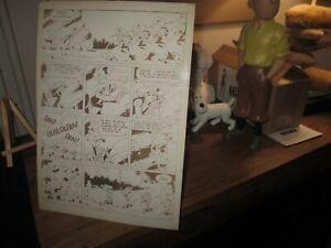 Morris & Lucky Luke-Ancienne planche,Bromure pour révision&correction-Années 70
