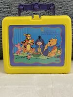 Disney's Winnie the Pooh plastic lunchbox with thermos. Made by THERMOS. In EUC.