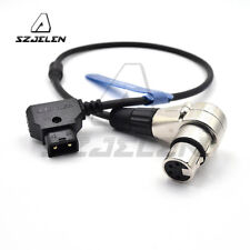 D-Tap to XLR 4Pin Female Right Angle Power Cable for DSLR Camcorder,Dtap to XLR