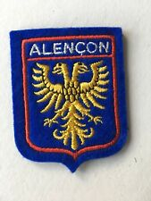 Old Vintage French Souvenir Patch Alencon France Embroidered Cloth