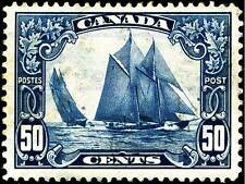 STAMP CANADA 50 CENTS SAILING SHIP DESIGN BLUE BOAT ART POSTER PRINT CC6748