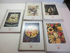 Lot of 5 Foods of the World Spiral Bound cookbooks by Time Life recipe books