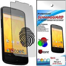 4 Film Opaque pour LG Nexus 4 E960 Antireflet Anti-traces Protecteur D'écran