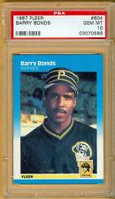 Barry Bonds Pirates Giants 1987 Fleer #604 Rookie Card rC PSA 10 Gem Mint QTY