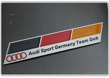 Audi Sport Germany Team Goh badge emblème A3 A4 S3 S4 S6 RS3 RS4 TT S LINE allemand