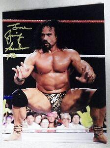 "WWF Wrestling Legend Jimmy ""Superfly"" Snuka Signed 8x10 Photo Auto RIP 1/15/2017"
