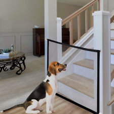 New listing Mesh Dog Gate Magic Gate for Dogs Portable Folding Baby Safety Gates and Black