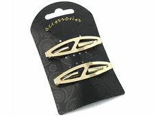 Gold Oval Clips In End Metal Barrette Hair Clips Grips Slides