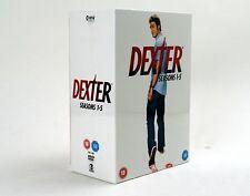 Dexter Seasons Staffeln 1-5 TV Serie Serien DVD Box Set Paket englisch NEU