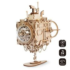 Robotime Submarine Model Building Kits Wooden Mechanical Music Box Toy Boys Kids