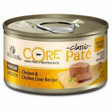 Wellness Core Natural Grain Free Wet Canned Cat Food Indoor Chicken  Chicken Li