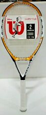 Wilson NFocus Hybrid Oversize 110Head Tennis Racquet (3) 4 3/8 Grip Yellow/Black