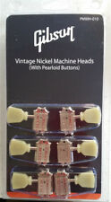 Gibson Les Paul Vintage Tuning Machine Heads Nickel w/Pearloid Buttons PMMH-010