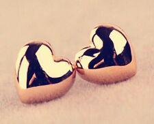 10 x Pairs Of Gold Heart Stud Earrings Wholesale Joblot Ladies Jewellery XMAS :q