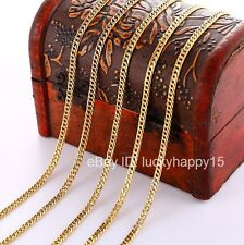 "Bulk Wholesale 5pcs 3mm Gold Filled Women Mens Curb Rolo Link Chain Necklace 18"""