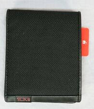Tumi Brand Global Removable Passcase ID Wallet Alpha SLG Canvas Black RFID $115